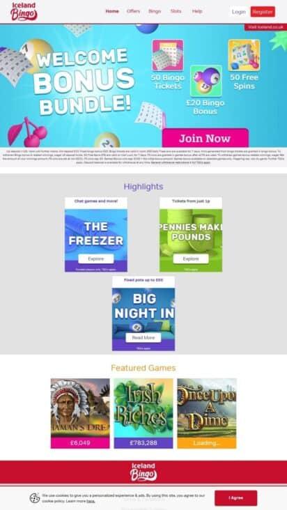 bingo iceland mobile games
