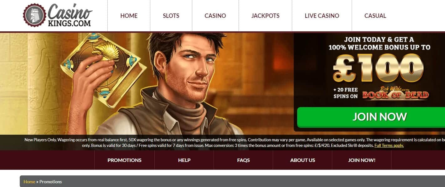 Casino Kings Home page