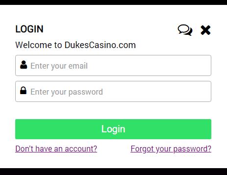 Dukes Casino Log In
