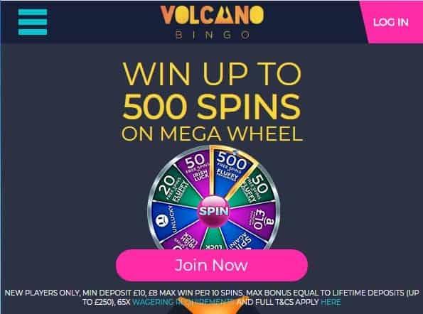 volcano bingo 480 image