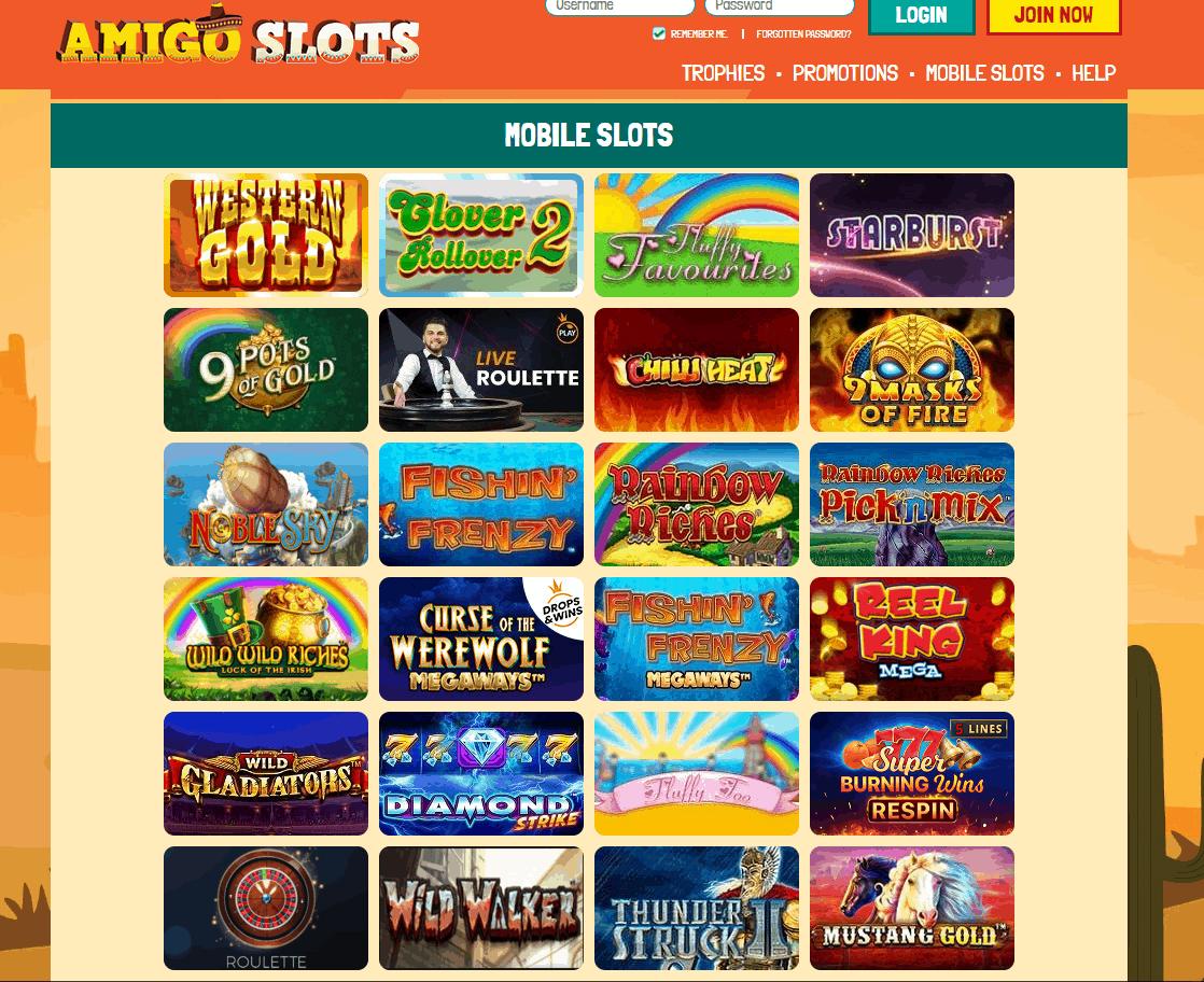 amigo slots games
