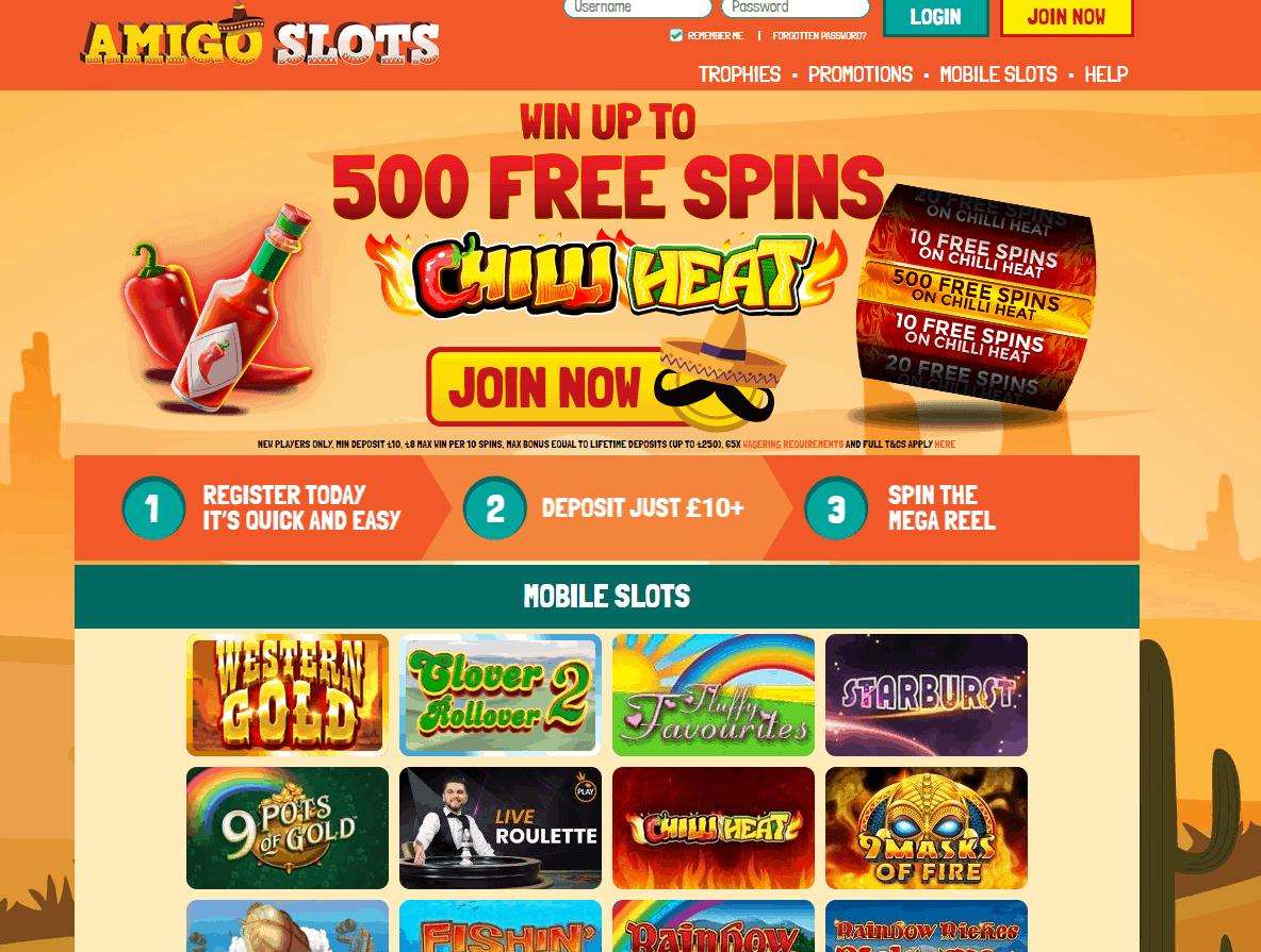 amigo slots home page