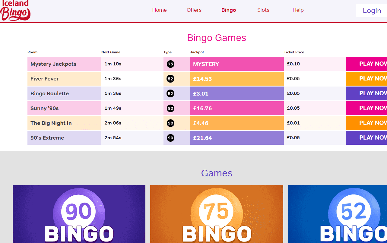 bingo iceland games