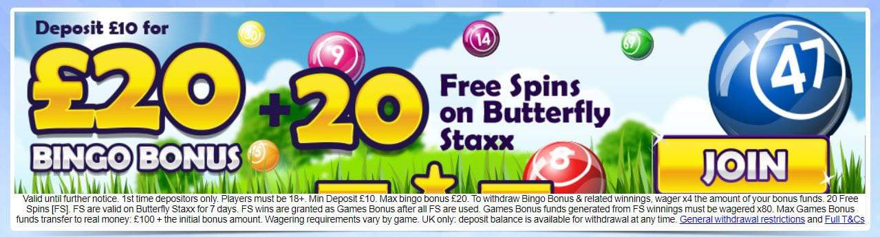 Butterfly Bingo promo