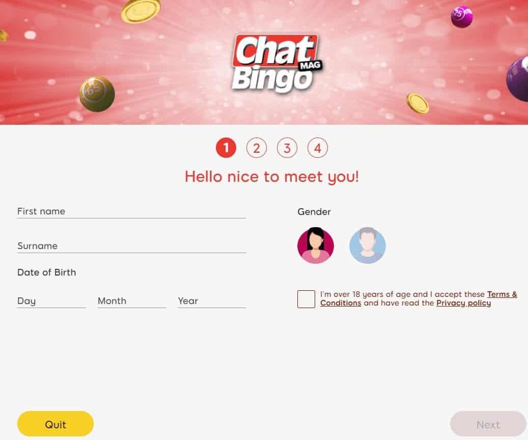 chatmag bingo sign up