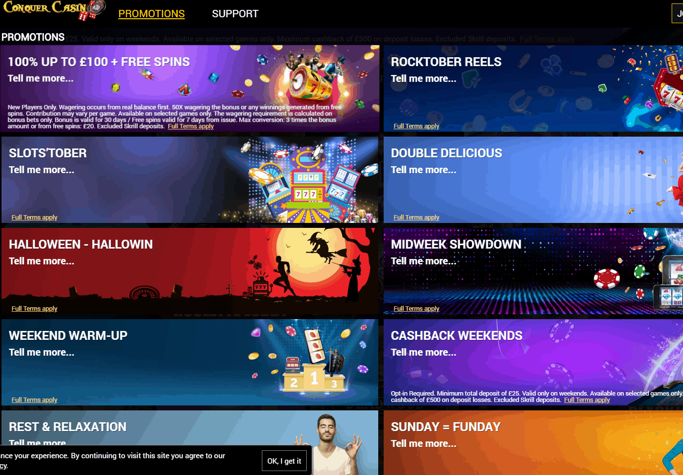 conquer-casino-promotions