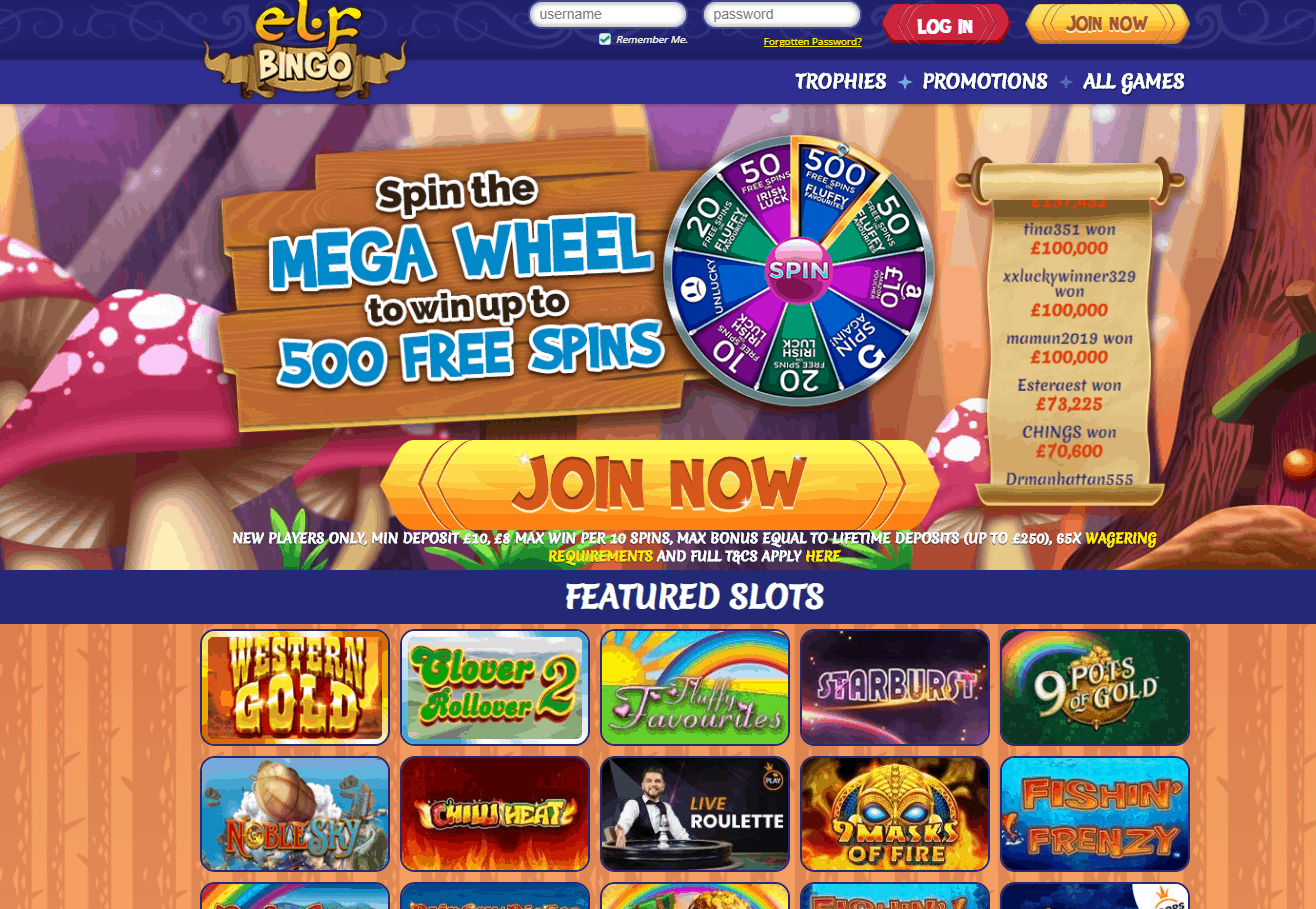 Elf Bingo Promotions