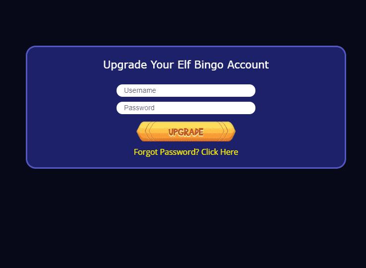 Elf Bingo Login