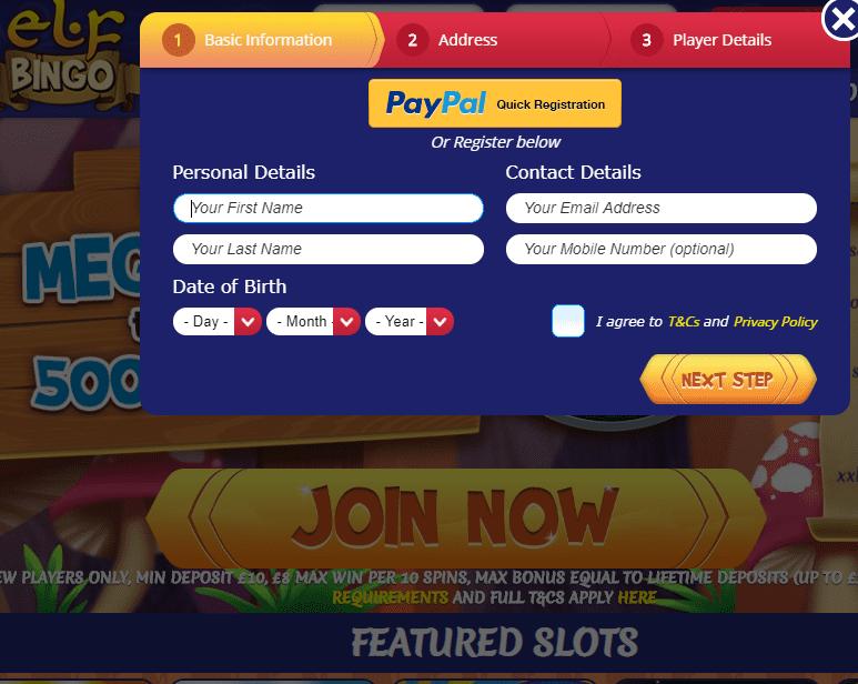 Elf Bingo Sign UP