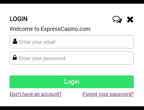 Express Casino login