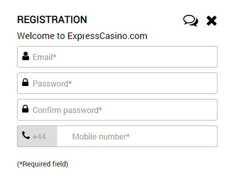 Express Casino Registration