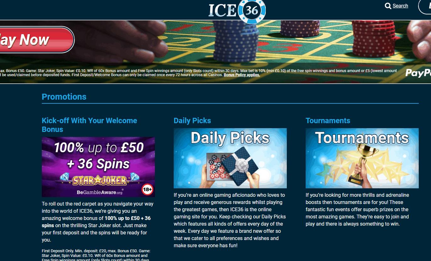ice36 casino promotions