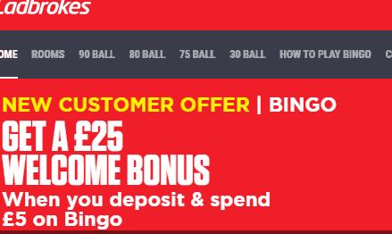 Ladbrokes Bingo front image
