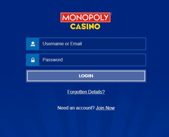 monopoly casino login
