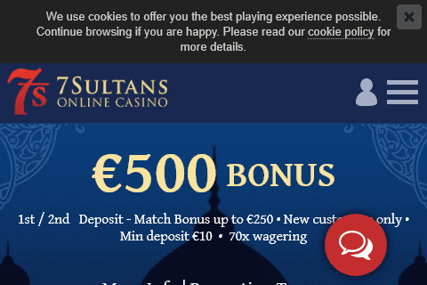 7 sultans casino front image