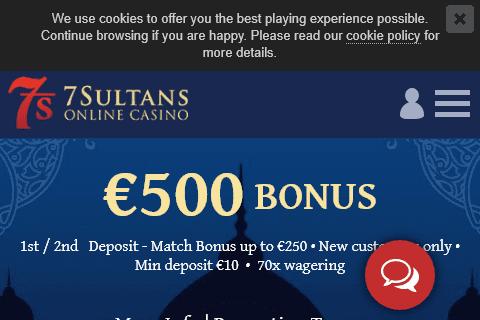 7 sultans casino front image