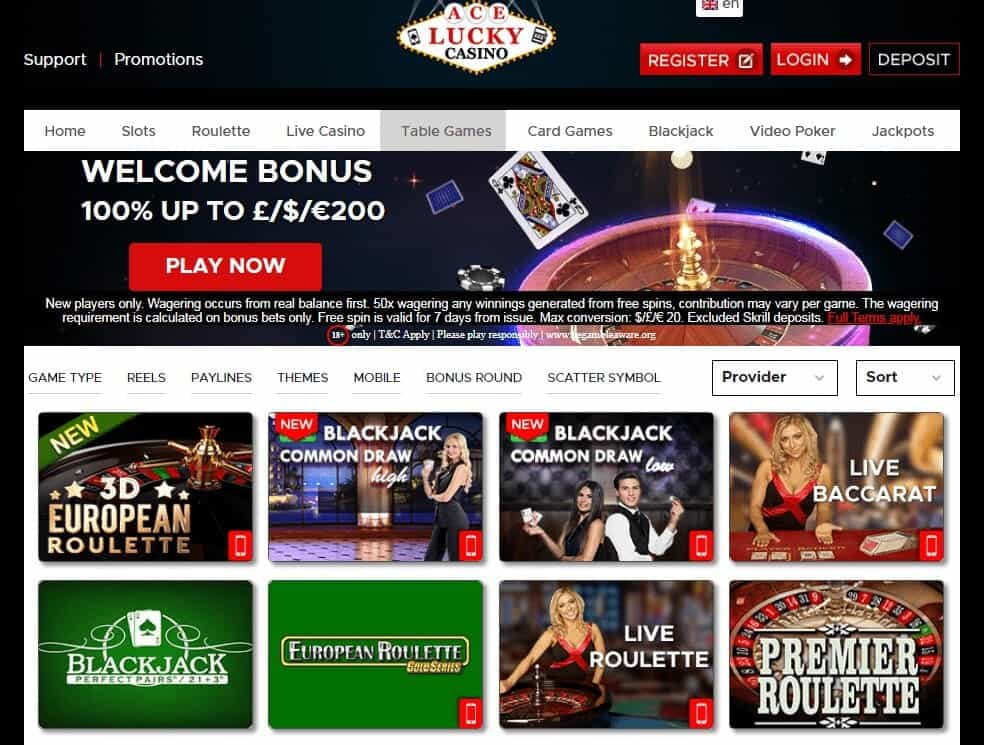 Ace Lucky Casino Game