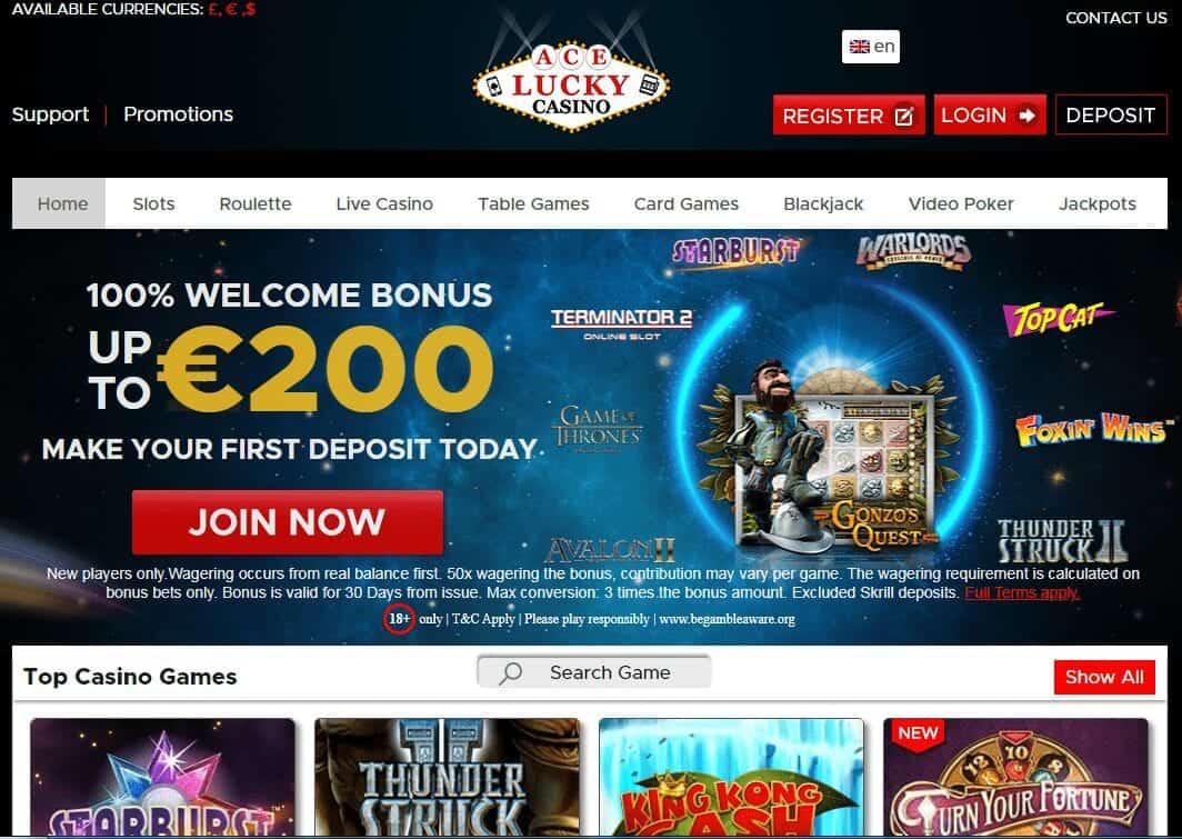 Ace Lucky Casino Home