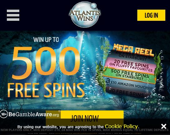 Atlantis Wins front page