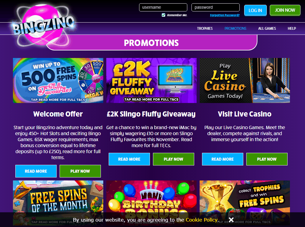 Bing Zino Promotions