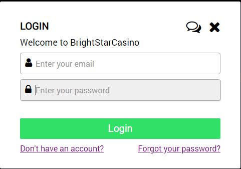 Bright Star Casino Login