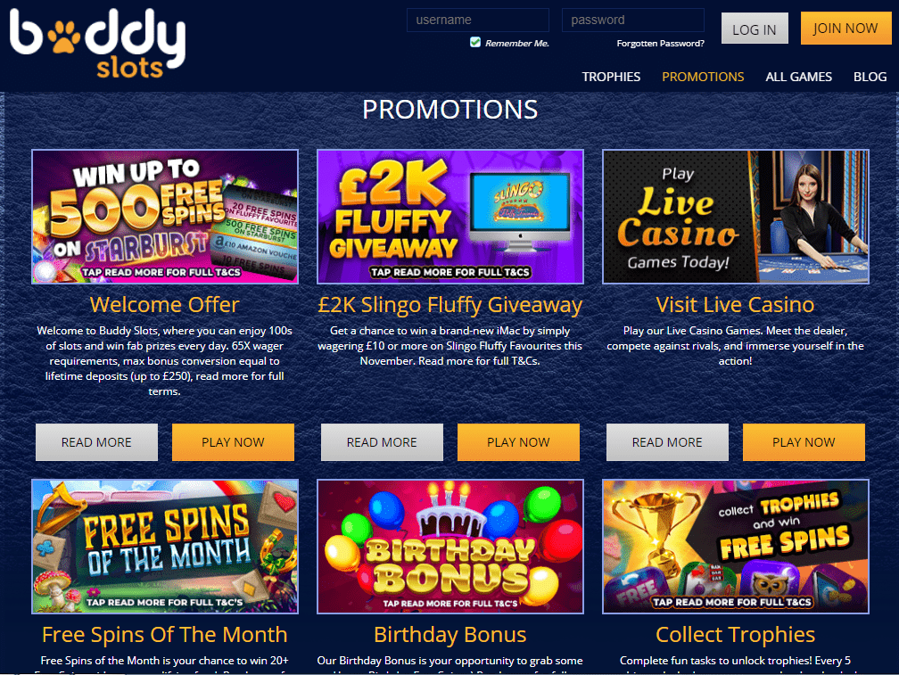 Buddy Slots Promotions