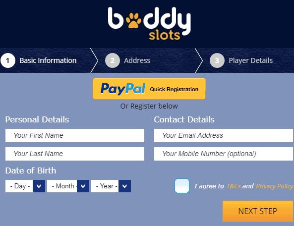 Buddy Slots SignUp