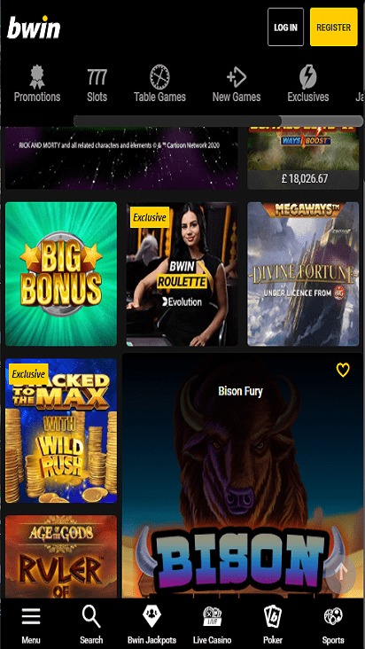 Bwin game mobile