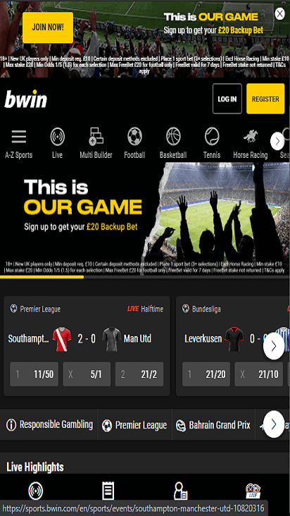 Bwin home mobile