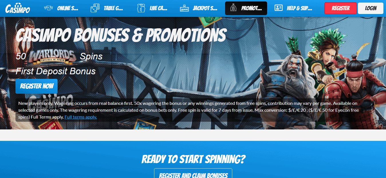 Casimpo promotion page