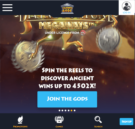 Casino Gods Front page