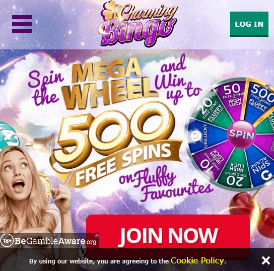 Charming Bingo Front Page
