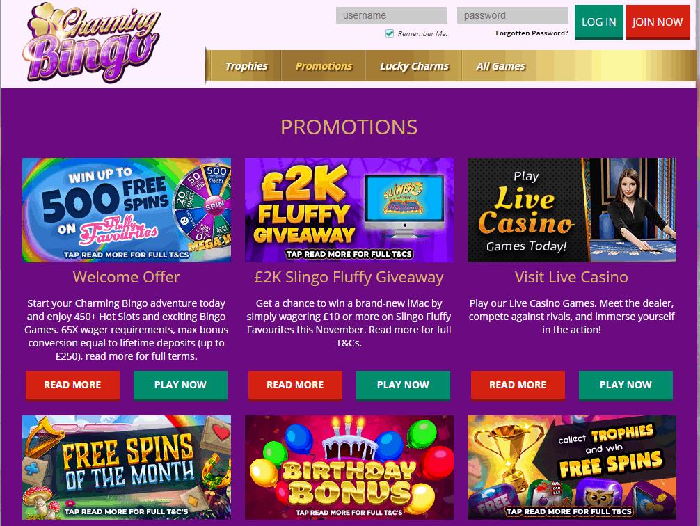 Charming Bingo Promotions