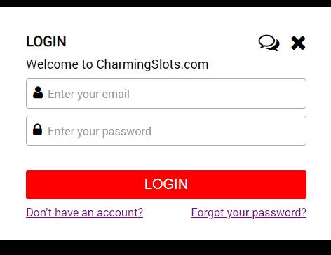 Charming Slots login