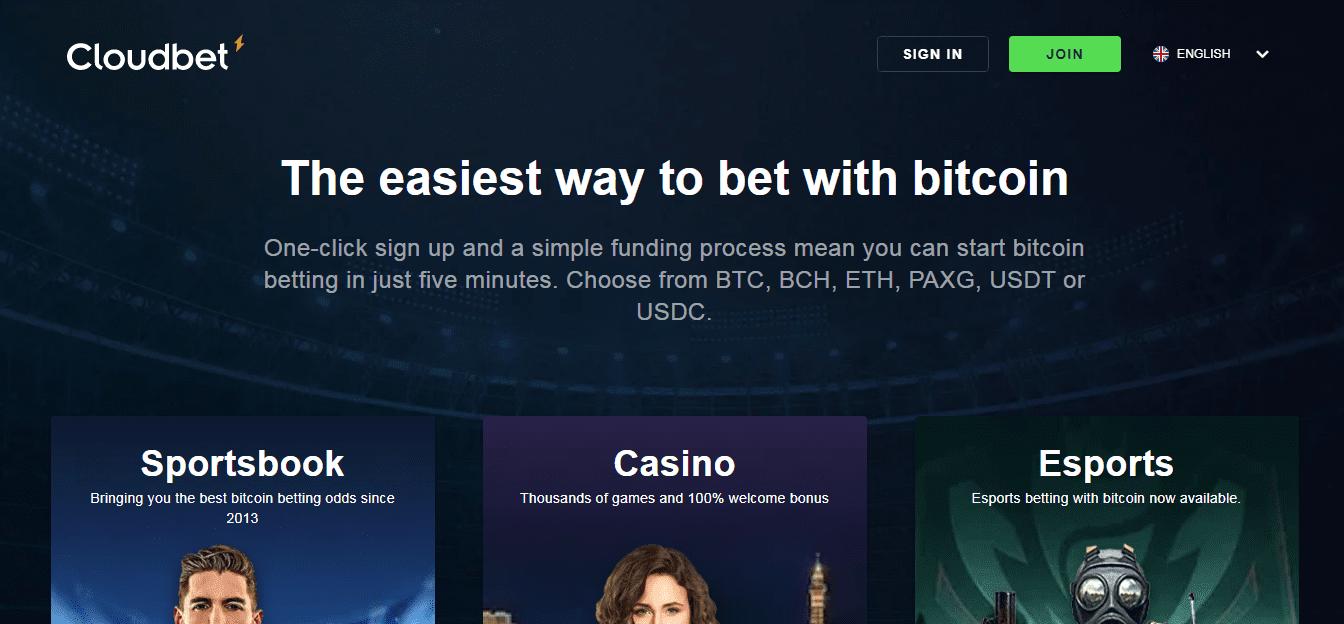 Cloud Bet Homepage
