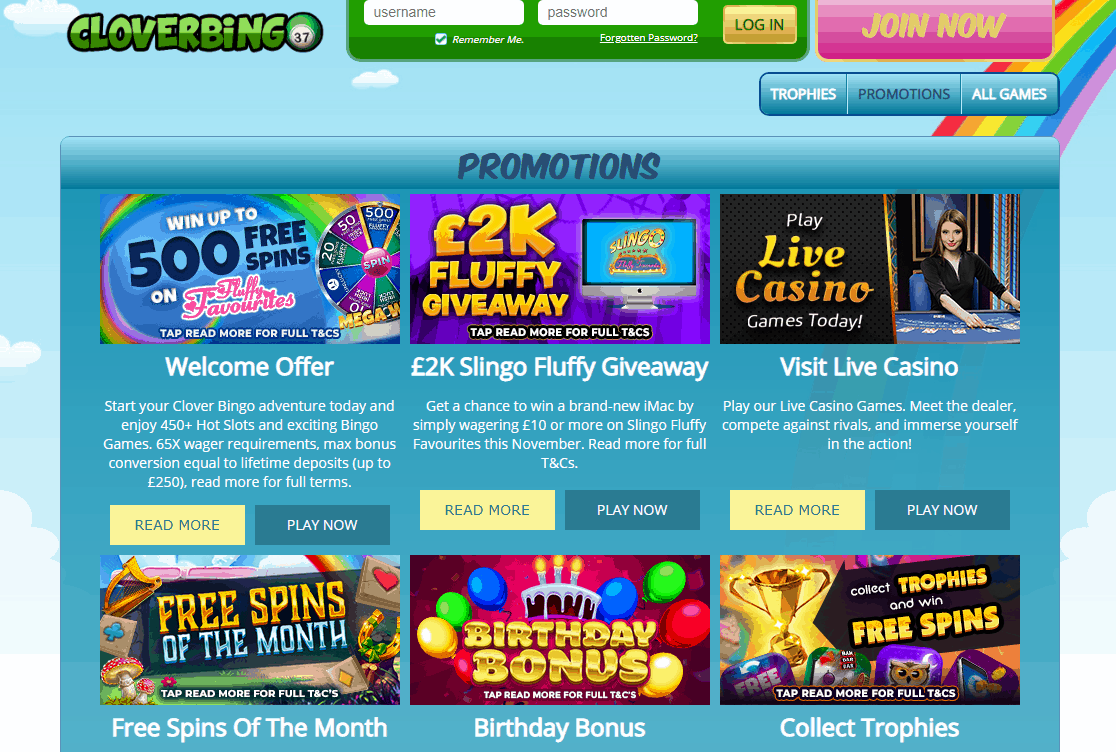 Clover Bingo Promotions