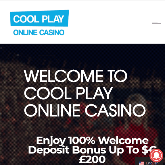 Cool Play Casino Front Page