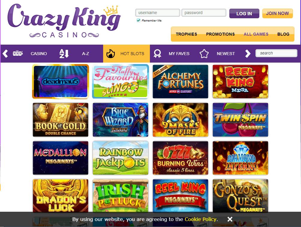 Crazy King Casino Game