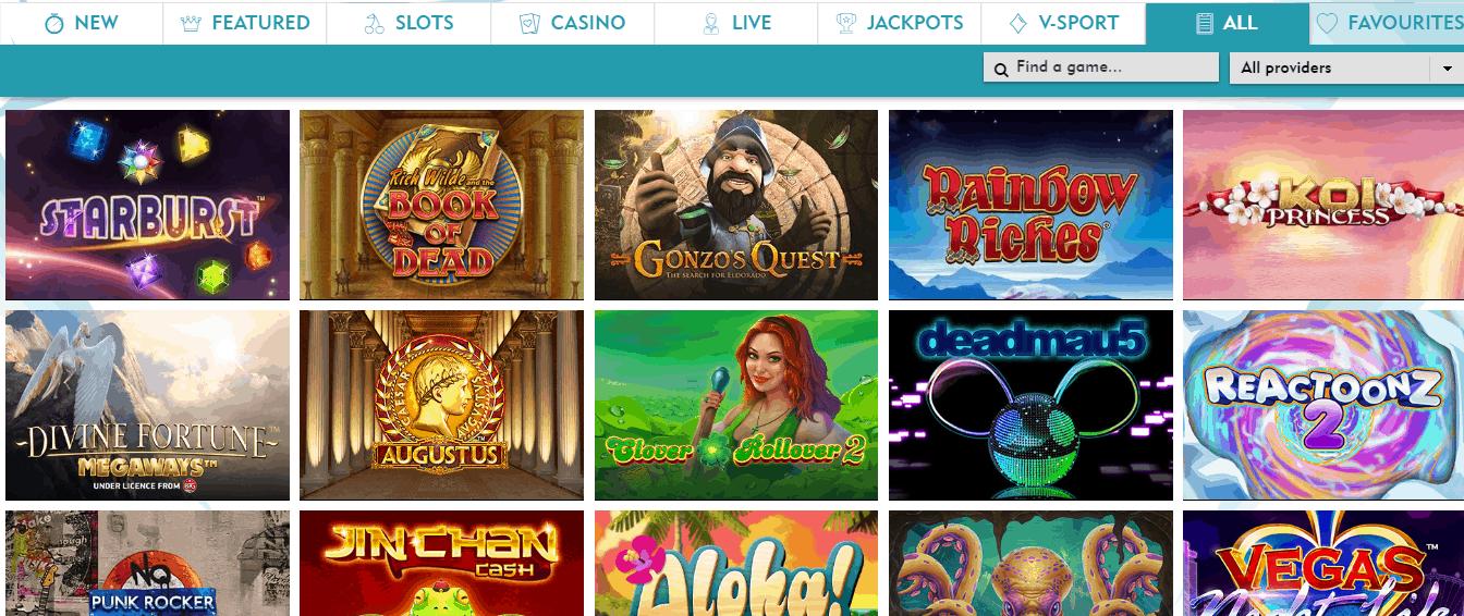 Dazzle Casino game page