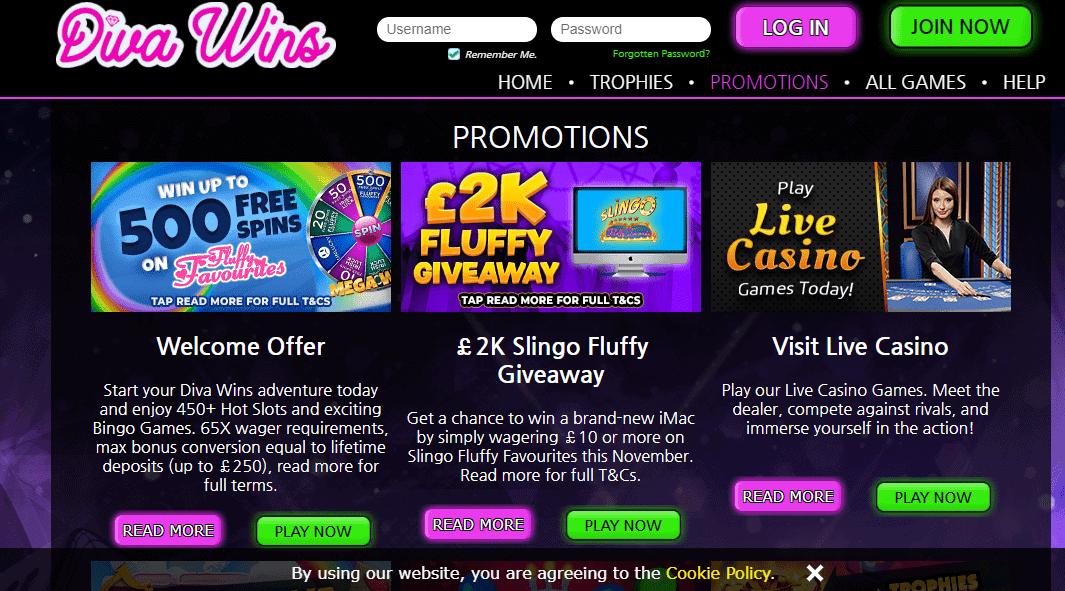 Diva Wins promotion