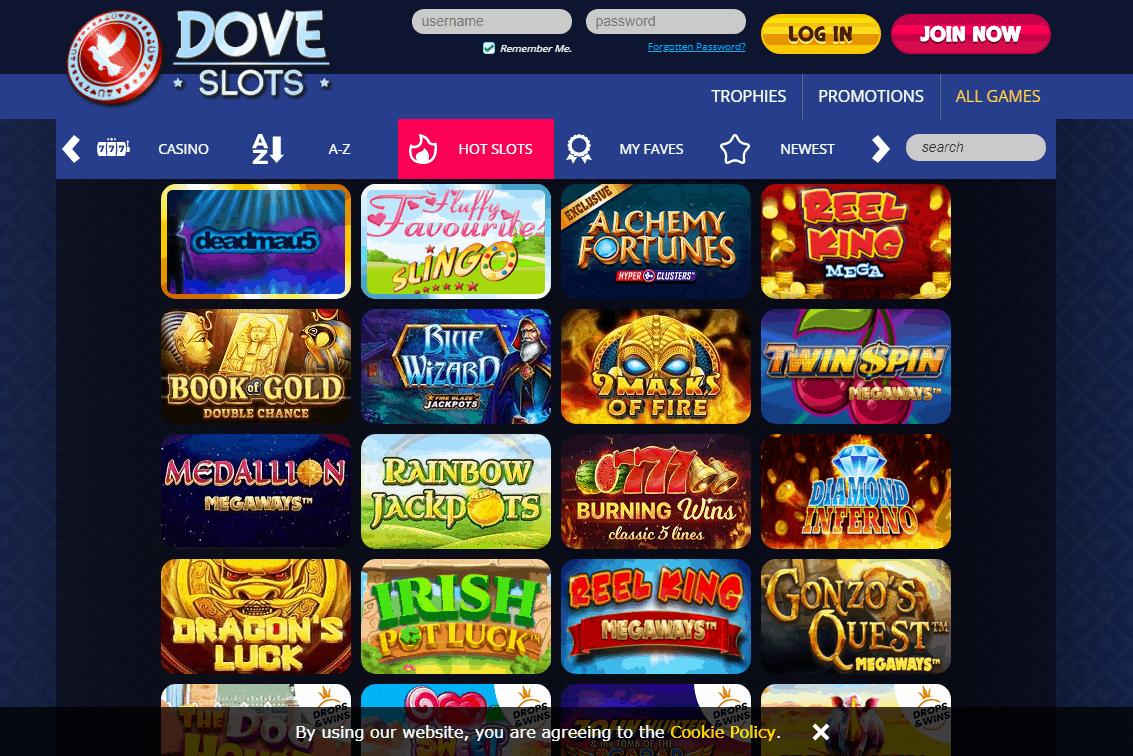 Dove Slots Game