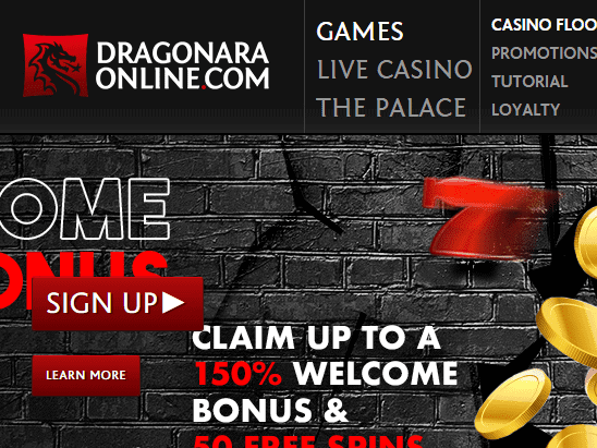 Dragonara Online front page