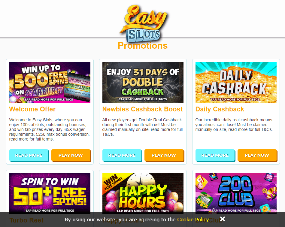 Easy Slots Promotions