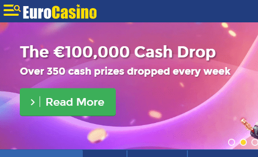 EuroCasino front page