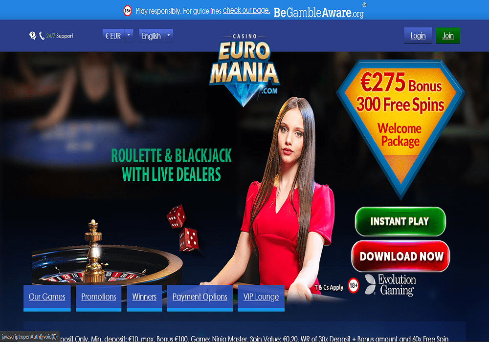 play ojo home page