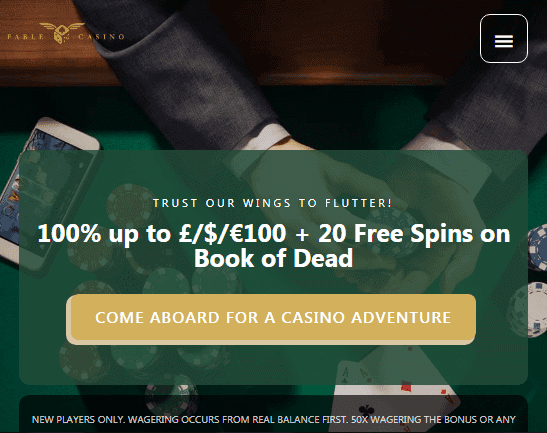 Fable Casino front page