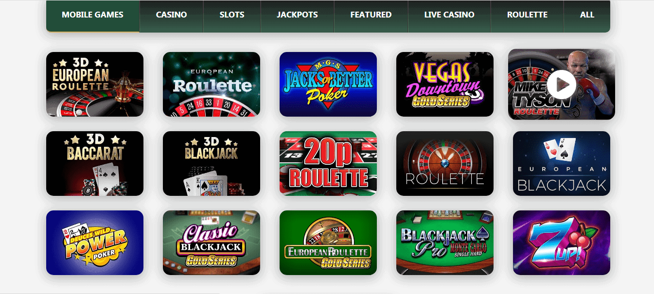 Fable Casino gamepage