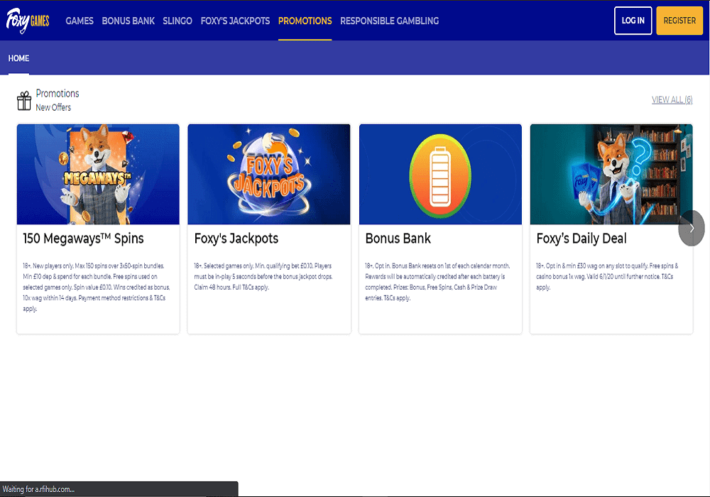 cheeky bingo promotions page