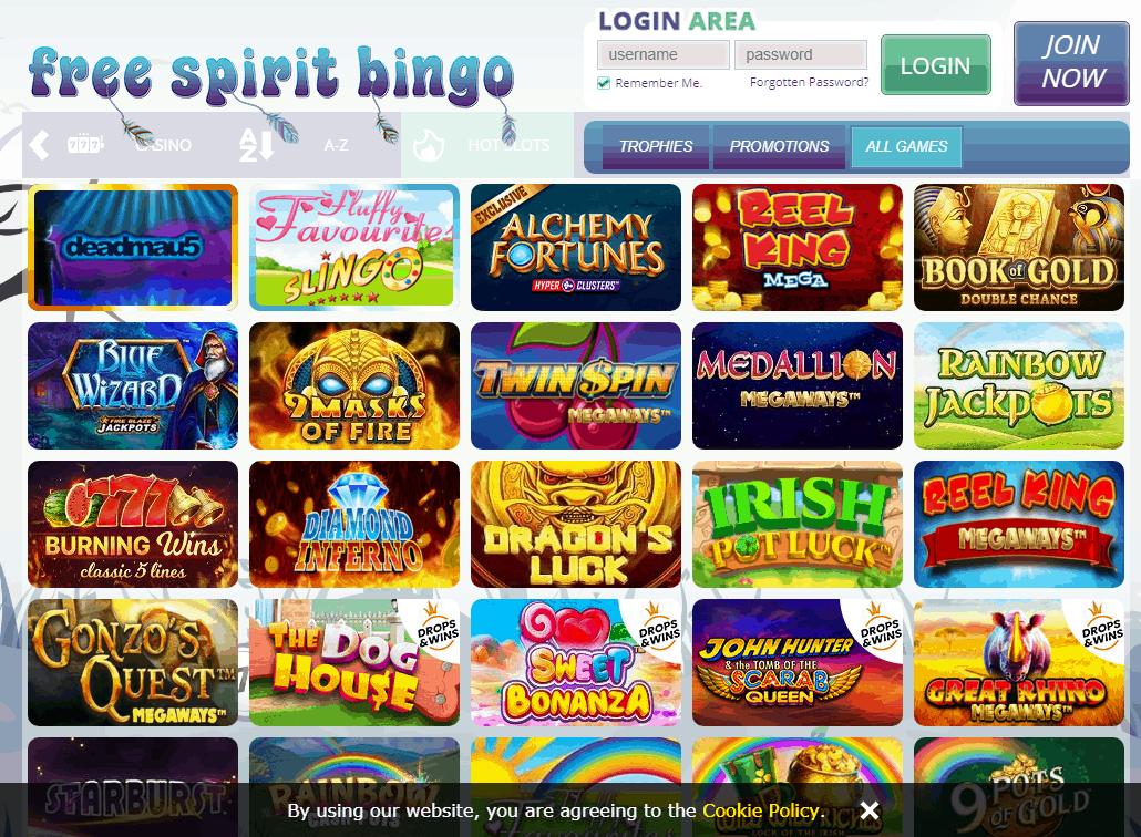 Free Spirit Bingo Game