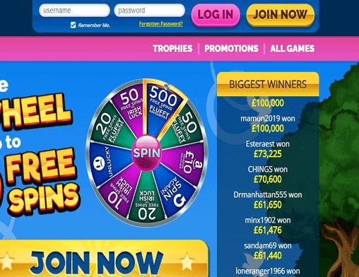 Cheeky Bingo login